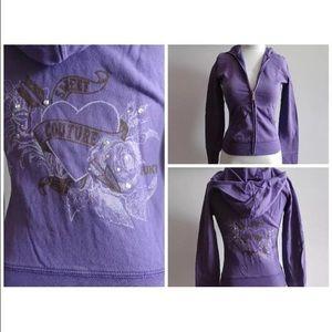 Juicy Couture Zip Up Sweater Hoodie Jacket XS S
