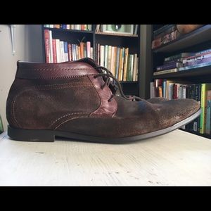 Base London Other - Men's Brown Leather & Suede Chukka boots