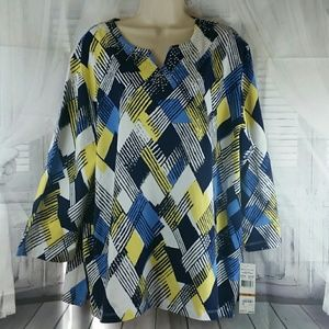 Alfred Dunner Tops - NWT Alfred Dunner Multi Colored Blouse SALE