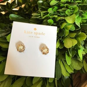 New Kate Spade gold and diamond earrings ✨