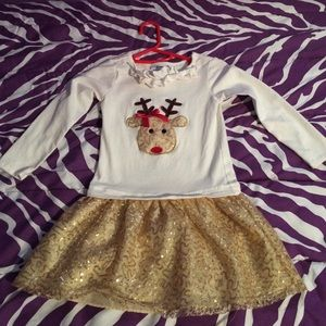 Bonnie Jean Other - Girls size 6 Christmas dress/top