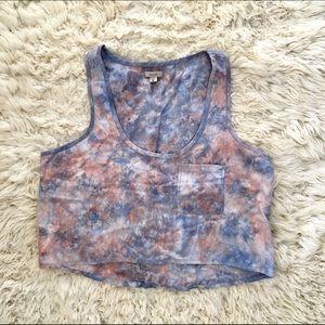 Ecote Tops - Tie dye crop top
