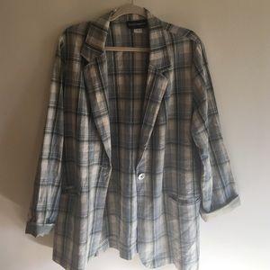 Vintage Linen Boyfriend Blazer