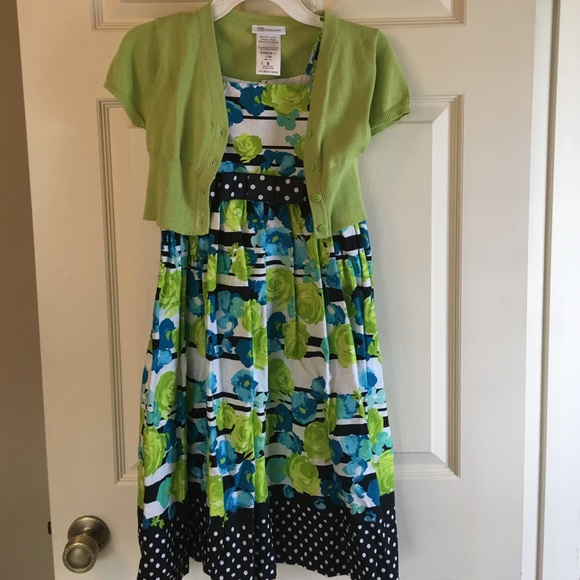 Bonnie Jean Dresses Black Green And Blue Girls Dress Like New