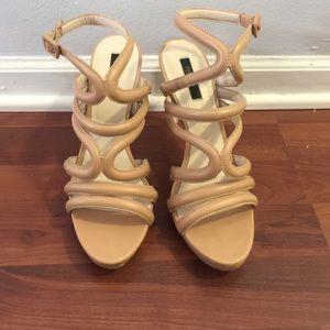 Zara sandals nude size 41
