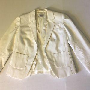 Loft blazer with ruffle detail
