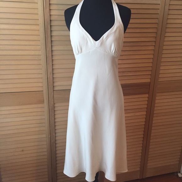 JCrew silk halter dress