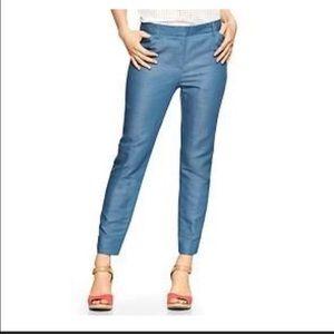 GAP Pants - GAP Slim Cropped Chambray Pant