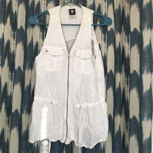 G-Star Tops - G-Star raw white zip blouse