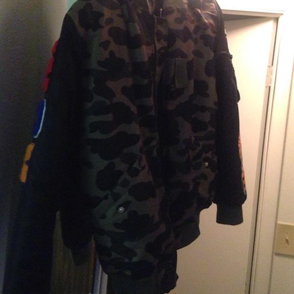 Bape camo parka bomber jacket