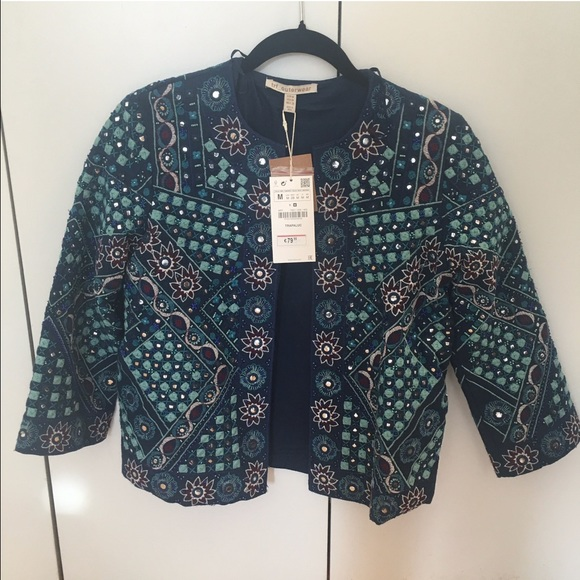 Zara Jackets & Blazers - Zara Embroidered Indian-style Jacket, size M