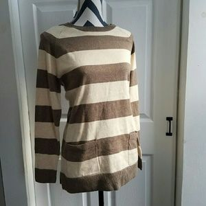 Striped Sweater with Pockets