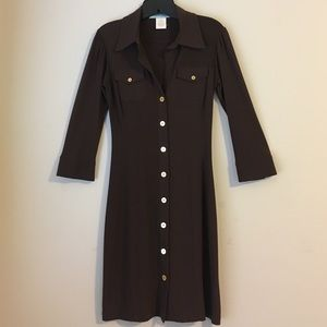 Guess by Marciano Dresses & Skirts - Button Up Stretch Fitted Pocket Shirt Dress