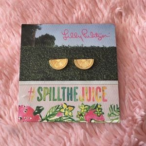 Lilly Pulitzer Jewelry - Brand New Lilly Pulitzer Lemon Slice Earrings