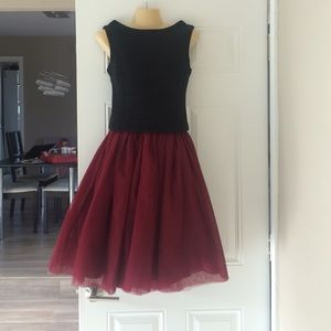 Tulle skirt wine red NWT