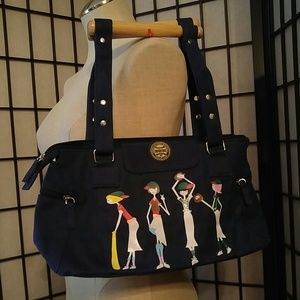 Cooperstown Navy Bag w/Wooden Handles NWT