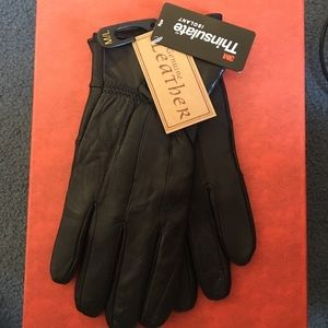 Genuine Leather black gloves