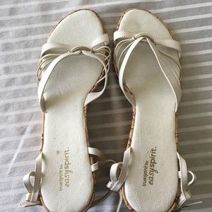 Easy Spirit Shoes - Beige wedge sandals