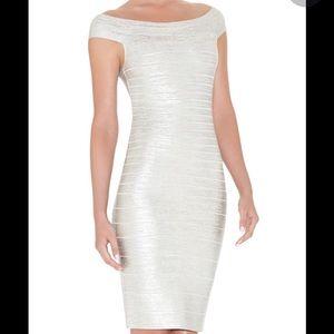 Herve Leger Dresses & Skirts - Herve Leger Bridget Foil-Print Bandage Dress