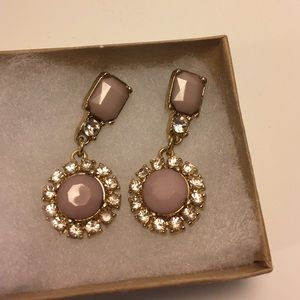 Blush and Gold Drop Earrings