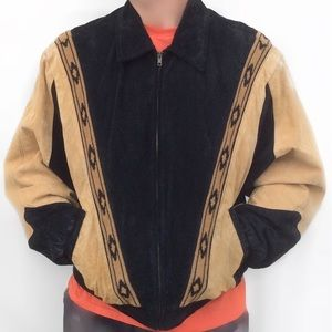 Scully Other - Black & Tan Boar Suede Men's Bomber