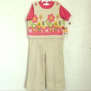Vintage Other - VTG deadstock Johnny  flower power 2 piece  jumper