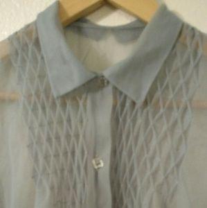  RARE Vintage 40s Paulwin Sheer Blouse