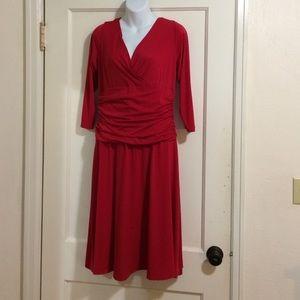 London Times Dresses & Skirts - London Times flattering red dress size 14