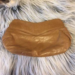 Lauren Merkin Handbags - Lauren Merkin Tan Leather Clutch