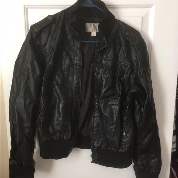Xhilaration Jackets Coats Target Faux Leather Bomber Jacket