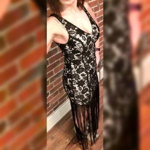 Ark & Co Dresses - Lace and Fringe Dress