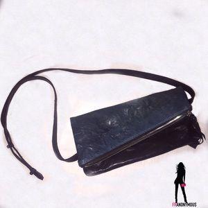 Lia Larrea Handbags - Lia Larrea Tia Foldable Clutch Teal/Black