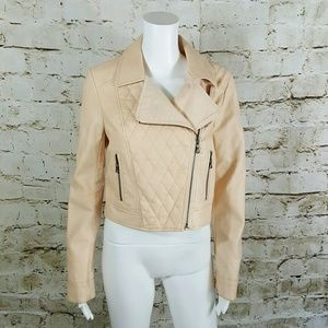 American Rag Jackets & Blazers - American Rag quilted faux leather moto jacket