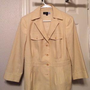 Jackets & Blazers - Saks fifth avenue yellow cream like blazer