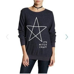 """Wildfox """"it's witch craft"""" pullover."""