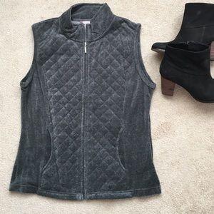 White Stag Jackets & Blazers - Gray velour vest