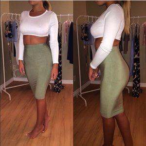 Tea You Bodycon Skirt