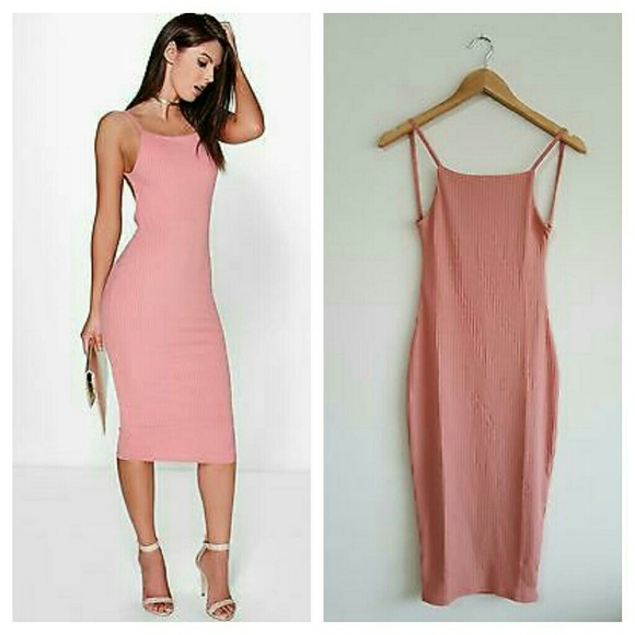 0c810094e7 Boohoo Dresses | Margarita Ribbed Open Back Bodycon Dress | Poshmark