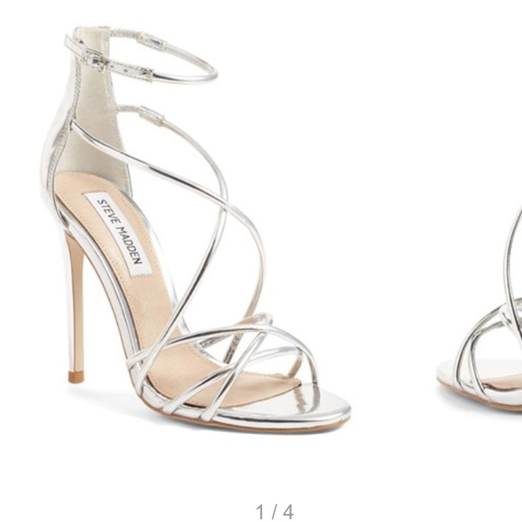 Steve Madden Satire Strappy Metallic Sandal 7.5