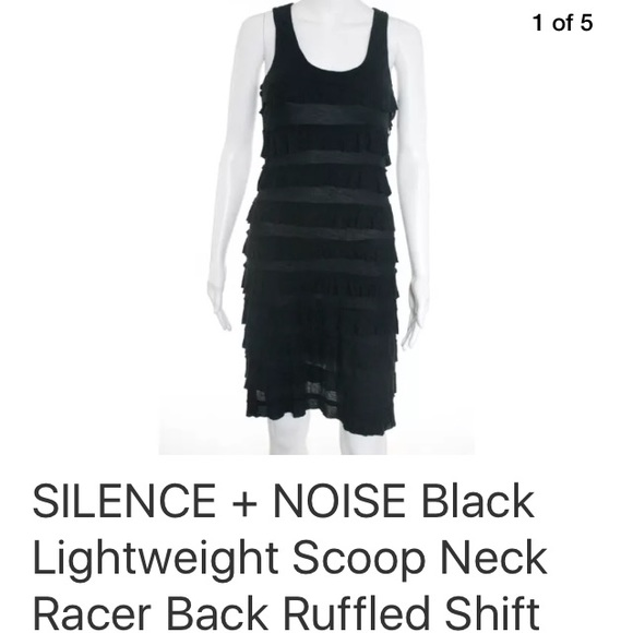 silence + noise Dresses & Skirts - SILENCE + NOISE BLACK LIGHTWEIGHT  DRESS SZ S