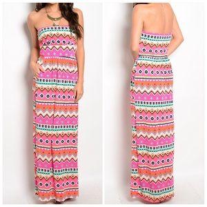 CupofTea Dresses & Skirts - 🎉SALE🎉Strapless printed pocket maxi dress