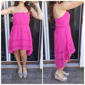 CupofTea Dresses & Skirts - 🎉SALE🎉Bright pink strapless hi/low dress