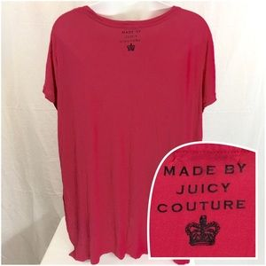 17bddfa123ae Juicy Couture Tops - JUICY COUTURE Raspberry   Black Glitter Top - 2X