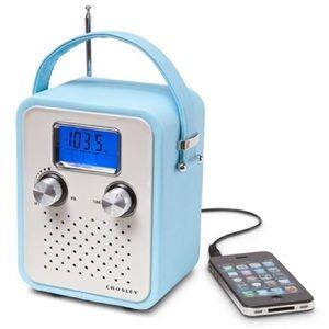 Crosley Songbird Radio CR8006A-TU blue leatherette