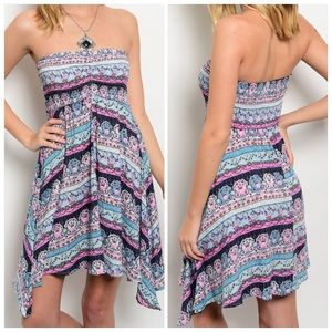 CupofTea Dresses & Skirts - 🎉SALE🎉Printed strapless dress