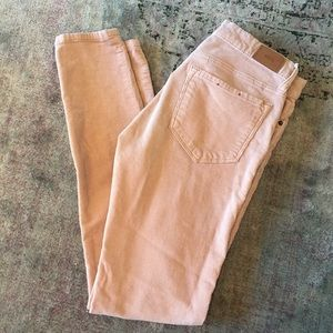 BDG skinny corduroy blush pink 25 urban outfitters
