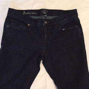 Loft modern skinny dark jeans