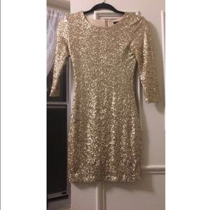 Gold sequin bodycon dress from ASOS