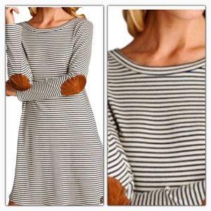 Dresses & Skirts - Sale! Contrast Elbows Patch Long Sleeve Dress
