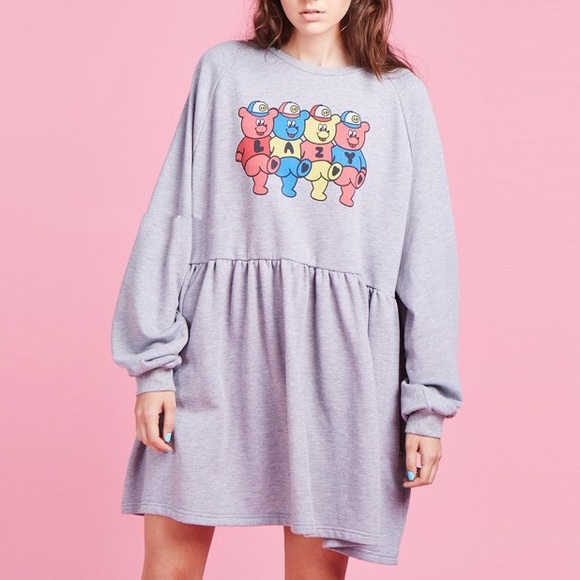 f98423a1707 Lazy Oaf Dresses   Skirts - Lazy Oaf teddy bear oversized sweater dress dupe